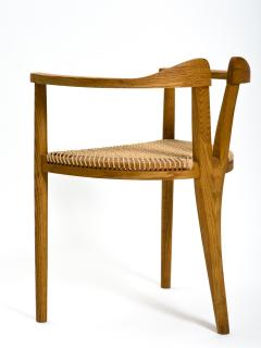Hans Wegner American Studio Craft Tri Leg Chair in Oak with Woven Seat after Hans Wegner - 1090094
