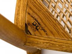 Hans Wegner American Studio Craft Tri Leg Chair in Oak with Woven Seat after Hans Wegner - 1090100