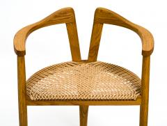 Hans Wegner American Studio Craft Tri Leg Chair in Oak with Woven Seat after Hans Wegner - 1090101