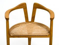 Hans Wegner American Studio Craft Tri Leg Chair in Oak with Woven Seat after Hans Wegner - 1090101