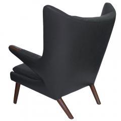 Hans Wegner Early Hans Wegner Papa Bear Chairs Ottomans in Slate Leather Pr  - 288675