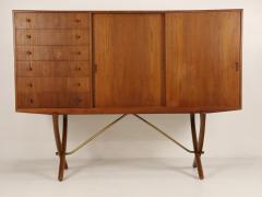 Hans Wegner Exceptional Scandinavian Modern Saber Legged Teak Oak Cabinet by Hans Wegner - 2012604