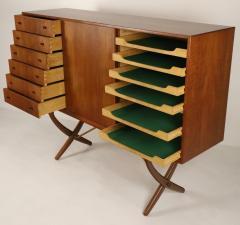 Hans Wegner Exceptional Scandinavian Modern Saber Legged Teak Oak Cabinet by Hans Wegner - 2012606