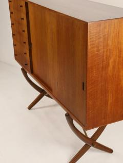 Hans Wegner Exceptional Scandinavian Modern Saber Legged Teak Oak Cabinet by Hans Wegner - 2012608