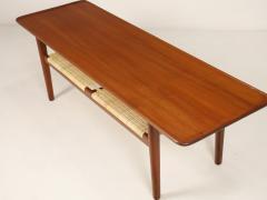 Hans Wegner Exceptional Scandinavian Modern Teak Cane Coffee Table Designed by Hans Wegner - 2018039