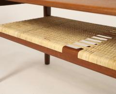 Hans Wegner Exceptional Scandinavian Modern Teak Cane Coffee Table Designed by Hans Wegner - 2018040