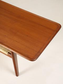 Hans Wegner Exceptional Scandinavian Modern Teak Cane Coffee Table Designed by Hans Wegner - 2018042