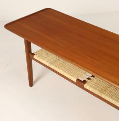 Hans Wegner Exceptional Scandinavian Modern Teak Cane Coffee Table Designed by Hans Wegner - 2018043