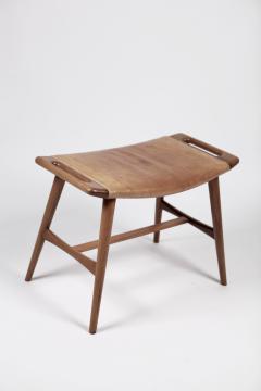 Hans Wegner Hans J Wegner AP 30 Piano Bench in Mahogany Original Natural Leather 1950s  - 1613895