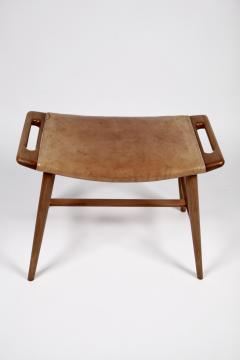 Hans Wegner Hans J Wegner AP 30 Piano Bench in Mahogany Original Natural Leather 1950s  - 1613899