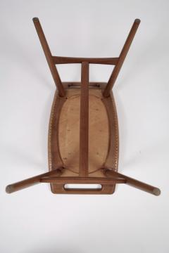 Hans Wegner Hans J Wegner AP 30 Piano Bench in Mahogany Original Natural Leather 1950s  - 1613902