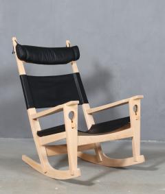 Hans Wegner Hans J Wegner Keyhole rocking chair model GE 673 newly upholstered - 2014155