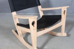 Hans Wegner Hans J Wegner Keyhole rocking chair model GE 673 newly upholstered - 2014161