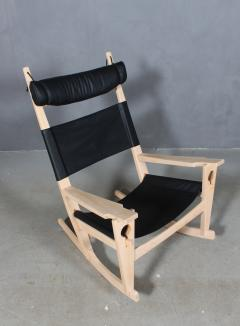 Hans Wegner Hans J Wegner Keyhole rocking chair model GE 673 newly upholstered - 2014162