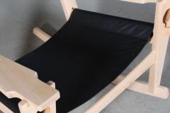 Hans Wegner Hans J Wegner Keyhole rocking chair model GE 673 newly upholstered - 2014199