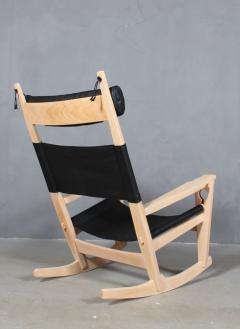 Hans Wegner Hans J Wegner Keyhole rocking chair model GE 673 newly upholstered - 2014200