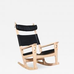 Hans Wegner Hans J Wegner Keyhole rocking chair model GE 673 newly upholstered - 2015544
