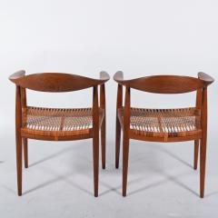 Hans Wegner Hans J Wegner Pair Oak Classics Chairs for Johannes Hansen - 1293387