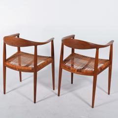Hans Wegner Hans J Wegner Pair Oak Classics Chairs for Johannes Hansen - 1293388