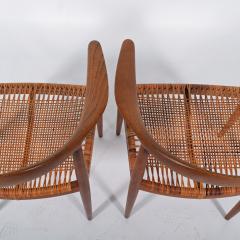 Hans Wegner Hans J Wegner Pair Oak Classics Chairs for Johannes Hansen - 1293391