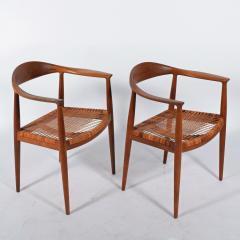 Hans Wegner Hans J Wegner Pair Oak Classics Chairs for Johannes Hansen - 1293394