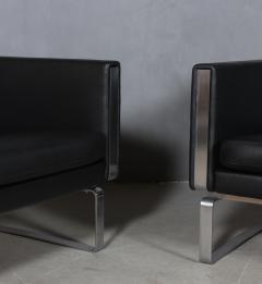 Hans Wegner Hans J Wegner Pair of lounge chairs model JH 101 2  - 2127186