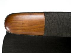 Hans Wegner Hans J Wegner Papa Bear Chair in Original Charcoal Gray Wool Upholstery - 504408