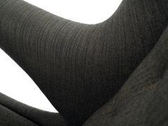 Hans Wegner Hans J Wegner Papa Bear Chair in Original Charcoal Gray Wool Upholstery - 506079