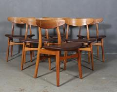 Hans Wegner Hans J Wegner Six chairs model CH 30 of oak 6  - 2099744