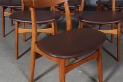 Hans Wegner Hans J Wegner Six chairs model CH 30 of oak 6  - 2099755