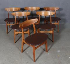 Hans Wegner Hans J Wegner Six chairs model CH 30 of oak 6  - 2099757