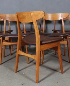 Hans Wegner Hans J Wegner Six chairs model CH 30 of oak 6  - 2099759