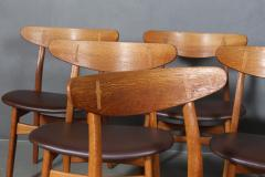 Hans Wegner Hans J Wegner Six chairs model CH 30 of oak 6  - 2099767