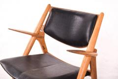 Hans Wegner Hans Wegner Model CH28 Sawbuck Lounge Chair by Carl Hansen - 1838921