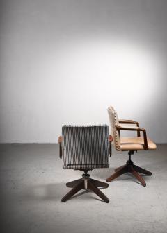 Hans Wegner Hans Wegner Oak office chair Plan M bler Denmark 1940s - 2066526