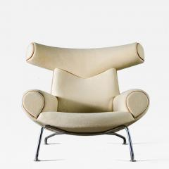 Hans Wegner Hans Wegner Ox Chair in White Mohair - 423585