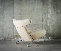 Hans Wegner Hans Wegner Ox Chair in White Mohair - 423590