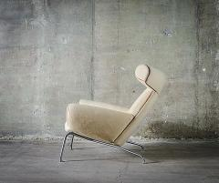 Hans Wegner Hans Wegner Ox Chair in White Mohair - 423594