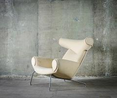 Hans Wegner Hans Wegner Ox Chair in White Mohair - 423597