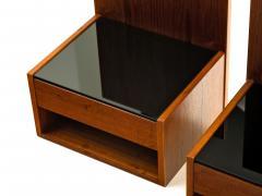 Hans Wegner Hans Wegner Pair of Floating Nightstands in Teak with Glass for Getama 1960s - 308879