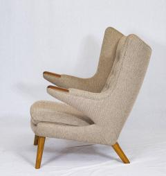 papa bear chair. Hans Wegner Papa Bear Chair And Footstool - 174253
