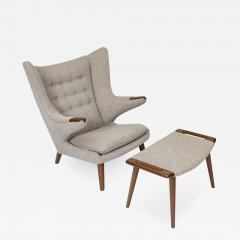 Hans Wegner Hans Wegner Papa Bear Chair and Footstool - 179722