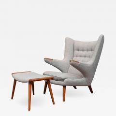 Hans Wegner Hans Wegner Papa Bear Chair and Ottoman - 1248084