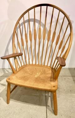 Hans Wegner Hans Wegner Peacock Chair in Ash and Teak with Woven Seat - 1086843