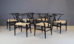 Hans Wegner Hans Wegner Set of Six Wishbone Chairs 1960s - 1585708