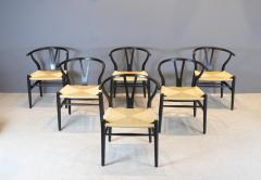 Hans Wegner Hans Wegner Set of Six Wishbone Chairs 1960s - 1585709