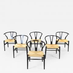 Hans Wegner Hans Wegner Set of Six Wishbone Chairs 1960s - 1586280