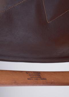 Hans Wegner Hans Wegner key hole rocking chair in original brown leather - 950033