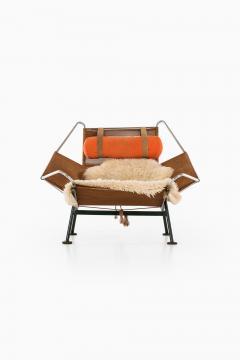 Hans Wegner Lounge Chair Flag Halyard Chair Produced by Getama - 1907226