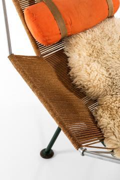 Hans Wegner Lounge Chair Flag Halyard Chair Produced by Getama - 1907233